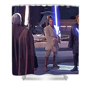 Star Wars Characters Poster Shower Curtain