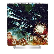 Star Wars Galactic Heroes Art Shower Curtain