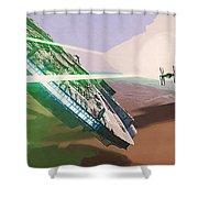 Star Wars Old Art Shower Curtain