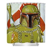 Star Wars The Trilogy Art Shower Curtain