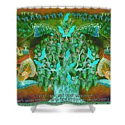 Sukkot- Prayer In The Sukkah Shower Curtain