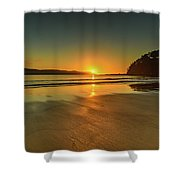 Sunrise Seascape From The Beach Shower Curtain