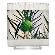 Swan Plant Shower Curtain