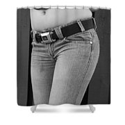 The G M Belt Shower Curtain