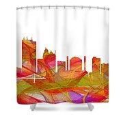 Toledo Ohio Skyline Shower Curtain
