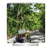 Tuk Tuk Trike Taxi Local Transport In Boracay Island Philippines Shower Curtain