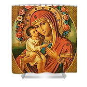 Virgin And Child Painting Art Shower Curtain