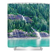 Waterfall In Tracy Arm Fjord, Alaska Shower Curtain