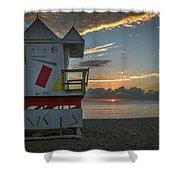 8041- Miami Beach Sunrise Shower Curtain