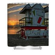 8097- Miami Beach Sunrise Shower Curtain