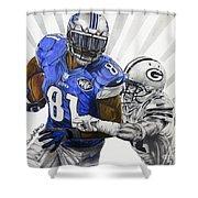 #81 Calvin Johnson Shower Curtain
