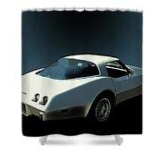 82 Corvette Generation C3 1968 To 1982 Shower Curtain