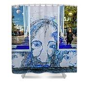 8261- Little Havana Mural Shower Curtain