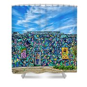 8276- Little Havana Mural Shower Curtain