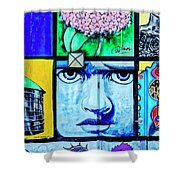 8292- Little Havana Mural Shower Curtain
