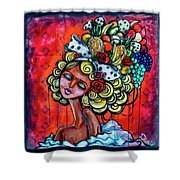 8334-1- Little Havana Mural Shower Curtain