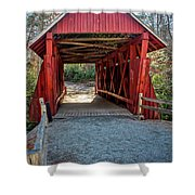 8350- Campbell's Covered Bridge Shower Curtain