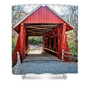 8351- Campbell's Covered Bridge Shower Curtain
