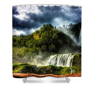 Nature Oil Painting Landscape Shower Curtain