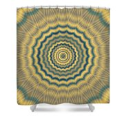 Psycho Hypno Floral Pattern Shower Curtain