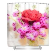 #8742 Soft Flowers Shower Curtain