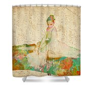 88 Keys To Her Heart Shower Curtain by Nikki Smith