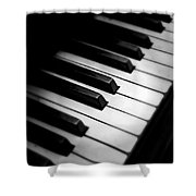88 Keys To The Heart Shower Curtain