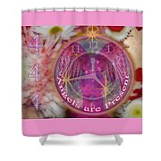 #8913_444 Angels Are Present  Shower Curtain
