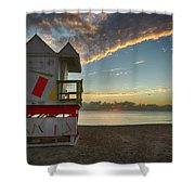 8990- Miami Beach Sunrise Shower Curtain