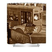 8th Ave Trolley Shower Curtain