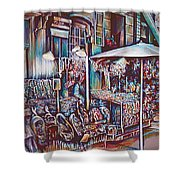 8th Street Rings Shower Curtain