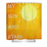 8x10 My Sun And Stars Shower Curtain