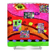 9-11-2015abcdefghijklmnopqrtuvwxyzabc Shower Curtain