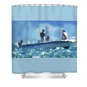 9-5-15--# 1 Don't Drop The Crystal Ball  Shower Curtain