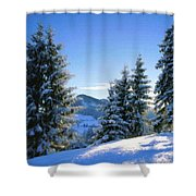 A Landscape Drawing Shower Curtain