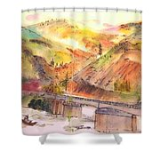 A Trip To Lewiston  In Autumn Album Shower Curtain