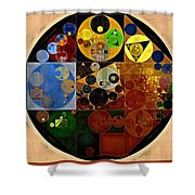 Abstract Painting - Caterpillars Brown Shower Curtain