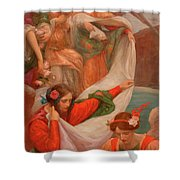 Angels Descending Shower Curtain