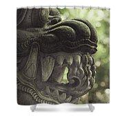 Bali Sculpture Shower Curtain