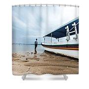 Bali Sunrise Shower Curtain