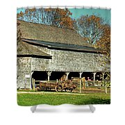 Hallockville Farm Barn Li.ny Shower Curtain