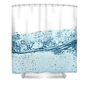 Blue Water Wave Abstract Background Shower Curtain