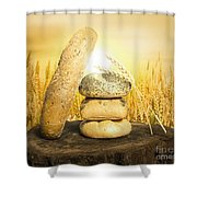 Bread And Wheat Cereal Crops. Shower Curtain by Deyan Georgiev