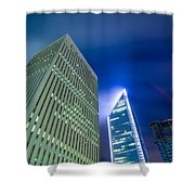 Charlotte North Carolina Skyline Shower Curtain