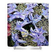 Close-up Of Flowers Shower Curtain