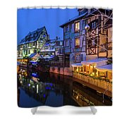 Colmar,petite Venice, Alsace, France, Shower Curtain