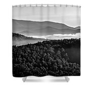 Early Morning On Blue Ridge Parkway Shower Curtain