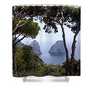 Faraglioni - Capri Shower Curtain
