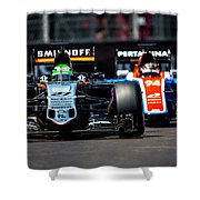 Formula 1 Monaco Grand Prix 2016 Shower Curtain