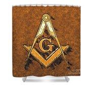 Freemason, Mason, Masonic Symbolism Shower Curtain
